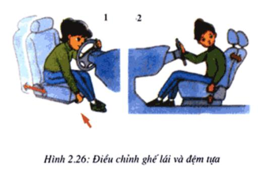 Điều chỉnh ghế ngồi lái xe oto và gương chiếu hậu