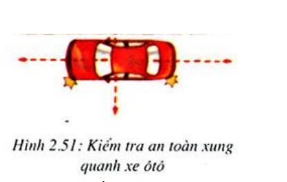 Kiểm tra an toàn xung quanh xe oto