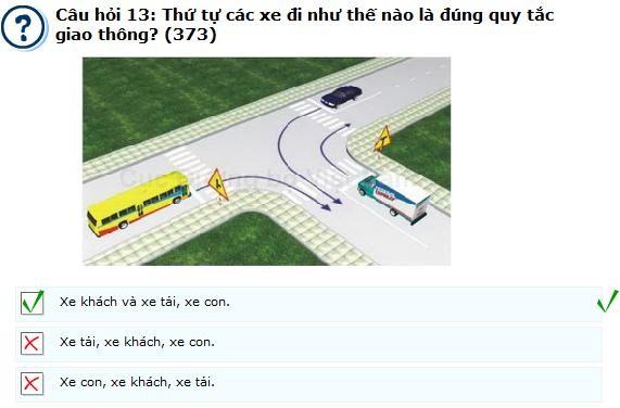 Những lỗi thường gặp khi thi lý thuyết lái xe oto