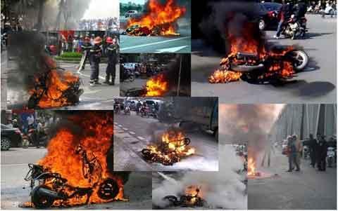 nguyên nhân làm xe oto, xe máy bị cháy