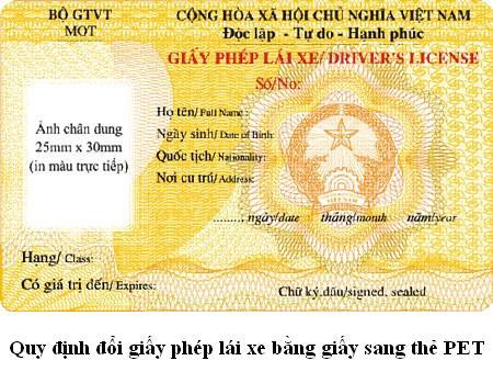 quy định chuyển đổi giấy phép lái xe
