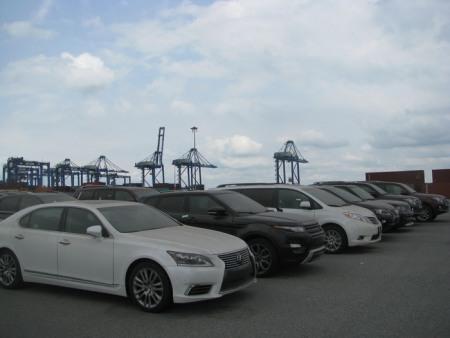 19 chiếc xe oto cao cấp tồn đọng tải cảng cái mép