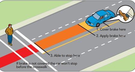 Đạp phanh xe oto gấp mà vẫn an toàn