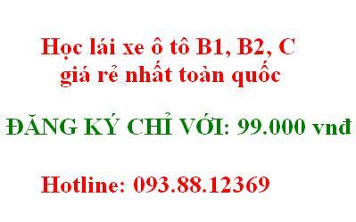 Học lái xe oto B1,B2, C giá rẻ chỉ với 99 ngàn đồng