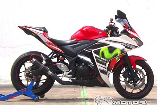 Xe mô tô Yamaha R25 phong cách MotoGP
