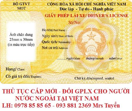 Thủ tục thi, đổi giấy phép lái xe máy, xe oto cho người nước ngoài tại Việt Nam