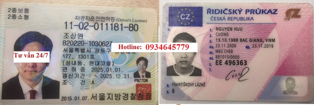 Đổi bằng lái xe nước ngoài sang bằng lái xe Việt Nam các hạng ô tô, xe máy